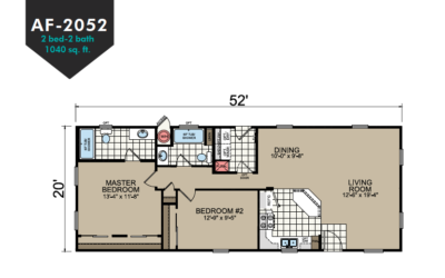 AF-2052 Floor Plan - Redman Homes American Freedom Series