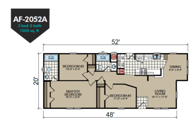 AF-2052A Floor Plan - Redman Homes American Freedom Series