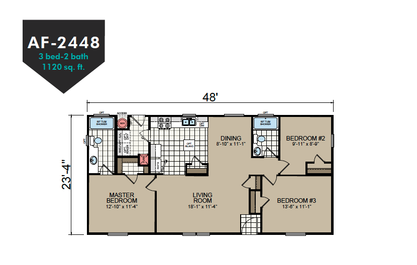 AF-2448 Floor Plan - Redman Homes American Freedom Series
