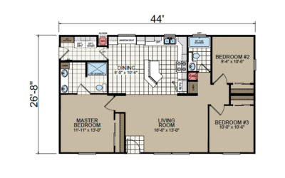 AF-2844 Floor Plan - Redman Homes American Freedom Series