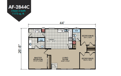 AF-2844C Floor Plan - Redman Homes American Freedom Series