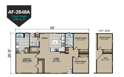 AF-2848A Floor Plan - Redman Homes American Freedom Series