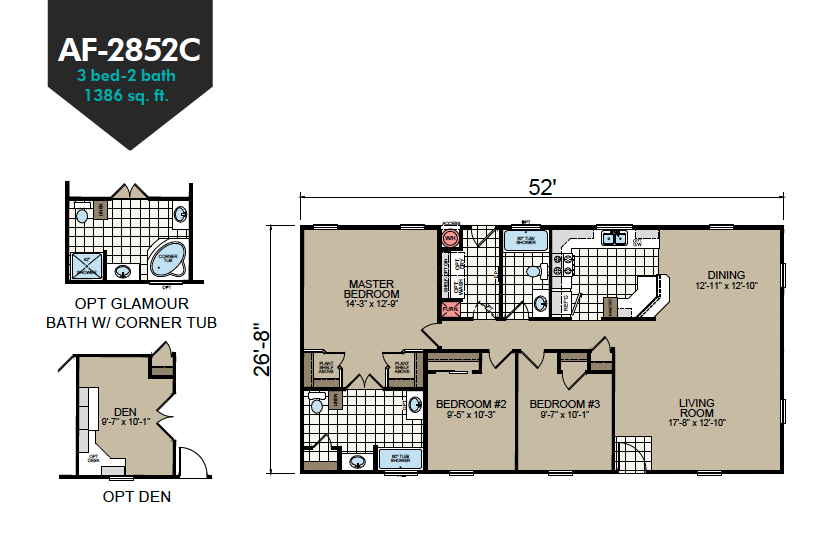 AF-2852C Floor Plan - Redman Homes American Freedom Series