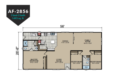 AF-2856 Floor Plan - Redman Homes American Freedom Series