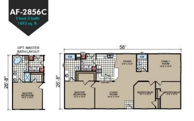 AF-2856C Floor Plan - Redman Homes American Freedom Series