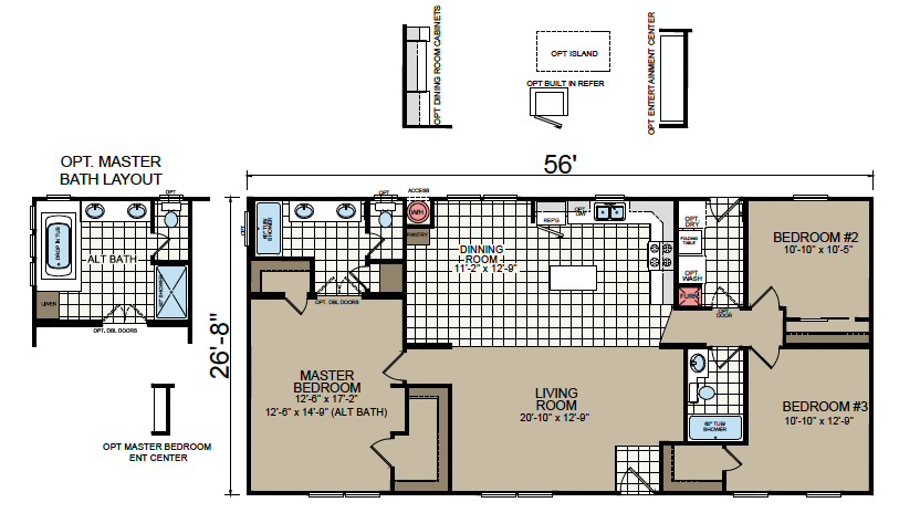 AF-2856E Floor Plan - Redman Homes American Freedom Series