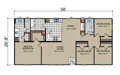AF-2856F Floor Plan - Redman Homes American Freedom Series