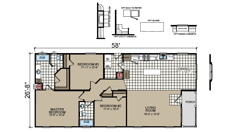 AF-2858 Floor Plan - Redman Homes American Freedom Series