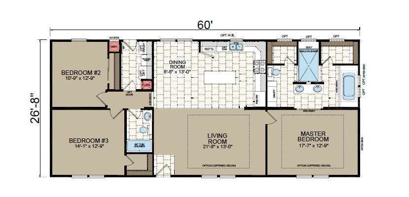 AF-2860E Floor Plan - Redman Homes American Freedom Series