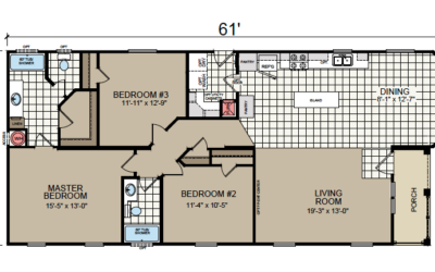 AF-2861 Floor Plan - Redman Homes American Freedom Series