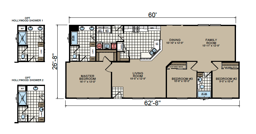 AF-2863A Floor Plan - Redman Homes American Freedom Series