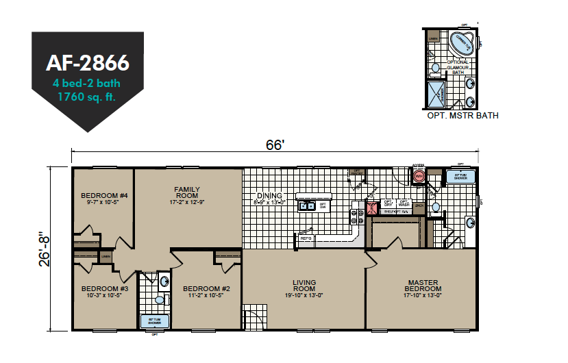 AF-2866 Floor Plan - Redman Homes American Freedom Series
