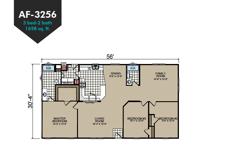 AF-3256 Floor Plan - Redman Homes American Freedom Series