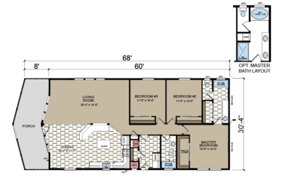 AF-3263 Floor Plan - Redman Homes American Freedom Series