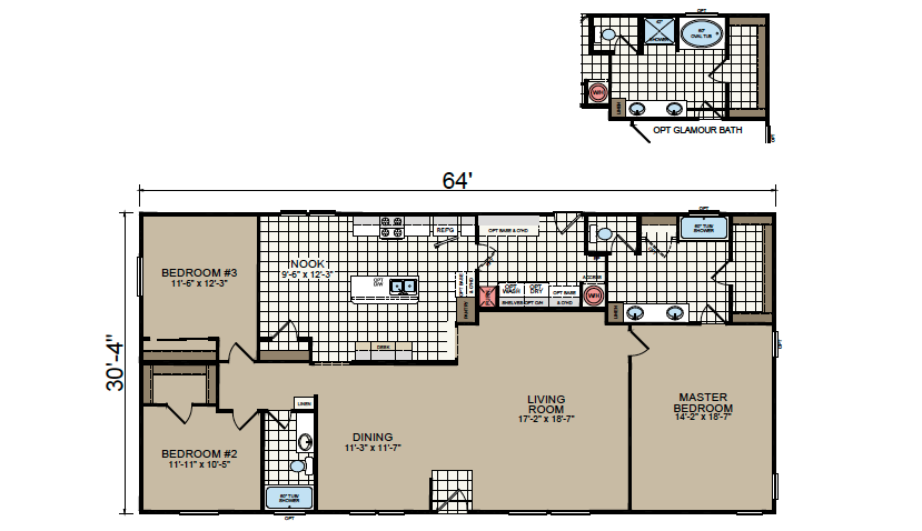 AF-3264 Floor Plan - Redman Homes American Freedom Series