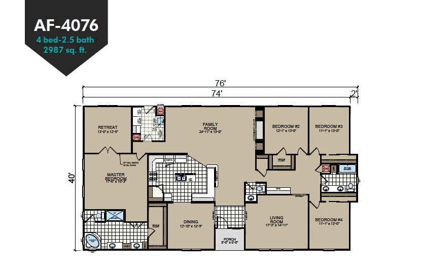 AF-4076 Floor Plan - Redman Homes American Freedom Series