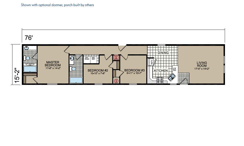 CN324 Floor Plan - Atlantic Homes Central Great Plains Series