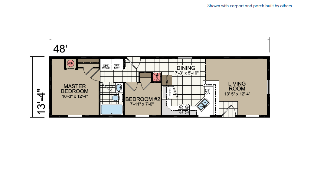CN449 Floor Plan - Atlantic Homes Central Great Plains Series