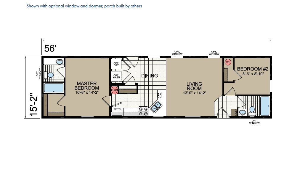 CN656 Floor Plan - Atlantic Homes Central Great Plains Series