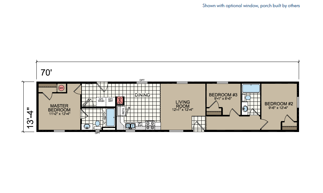 CN671 Floor Plan - Atlantic Homes Central Great Plains Series