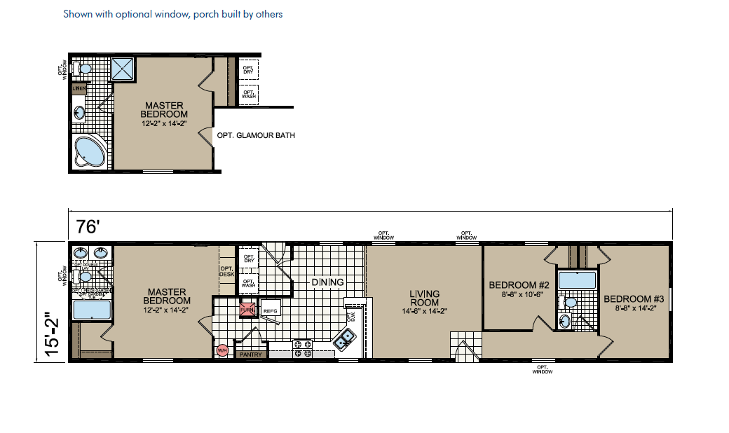 CN678 Floor Plan - Atlantic Homes Central Great Plains Series