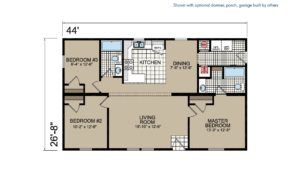 CN844 Floor Plan - Atlantic Homes Central Great Plains Series
