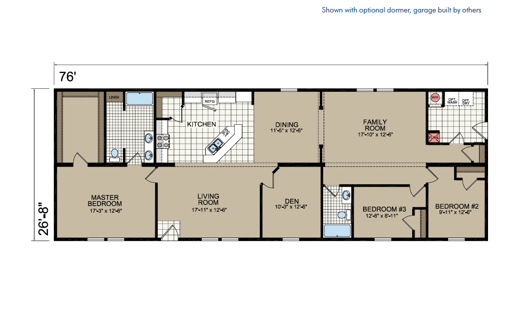 CN876 Floor Plan - Atlantic Homes Central Great Plains Series