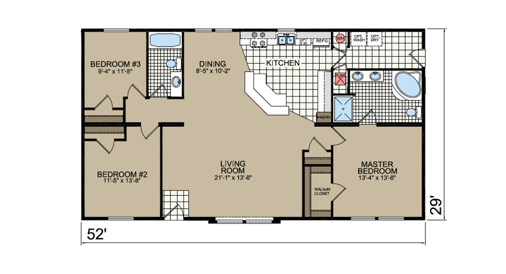 P-648 Floor Plan - Stockwell Atlantic Homes Lifestyle Series