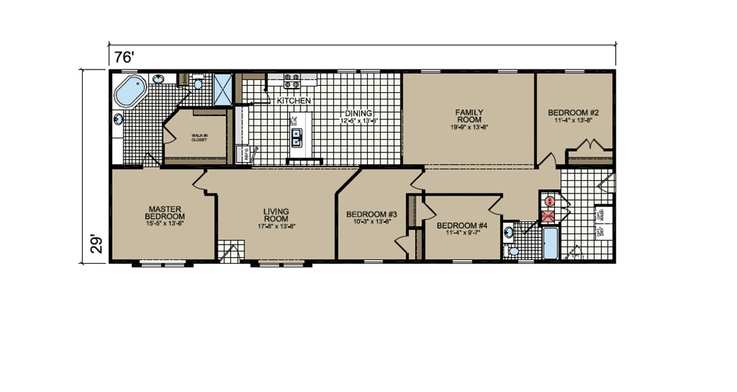 P-691 Floor Plan - Atlantic Homes Lifestyle Series