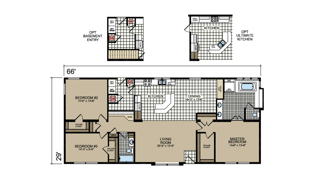 P-130SR Barrington Floor Plan - Atlantic Homes Lifestyle Series