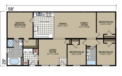 S-65 Atlantic Homes The Marquis Floor Plan
