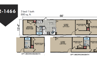 SR-1466 Redman Homes Sunrise Series Floor Plan