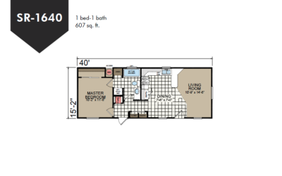 SR-1640 Redman Homes Sunrise Series Floor Plan