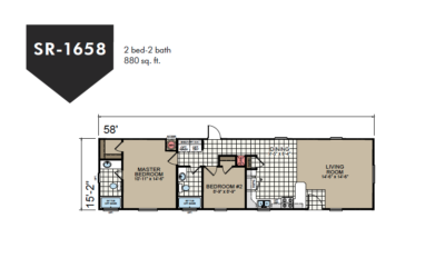 SR-1658 Redman Homes Sunrise Series Floor Plan