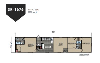 SR-1676 Redman Homes Sunrise Series Floor Plan