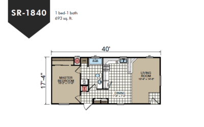 SR-1840 Redman Homes Sunrise Series Floor Plan