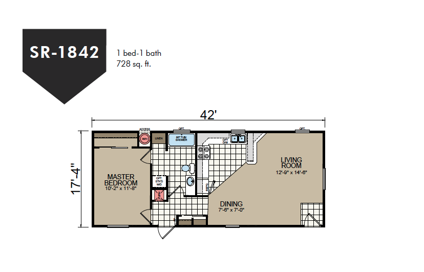 SR-1842 Redman Homes Sunrise Series Floor Plan
