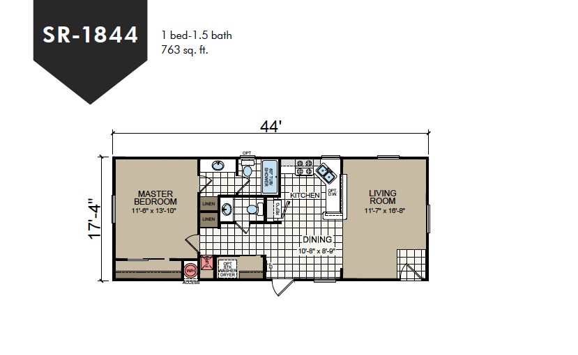 SR-1844 Redman Homes Sunrise Series Floor Plan
