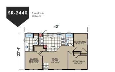 SR-2440 Redman Homes Sunrise Series Floor Plan