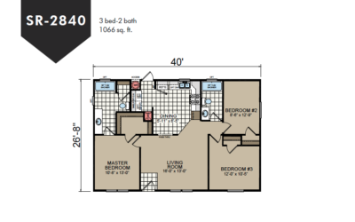 SR-2840 Redman Homes Sunrise Series Floor Plan