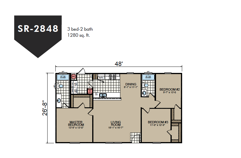 SR-2848 Redman Homes Sunrise Series Floor Plan