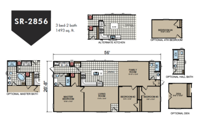 SR-2856 Redman Homes Sunrise Series Floor Plan