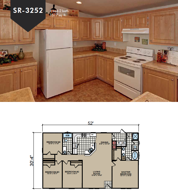 SR-3252 Redman Homes Sunrise Series Floor Plan