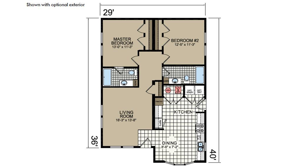 Y40 Floor Plan - Atlantic Homes York Built Series