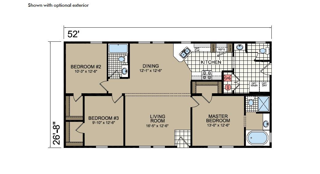 Y53 Floor Plan - Atlantic Homes York Built Series