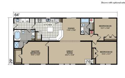 Y64 Floor Plan - Atlantic Homes York Built Series