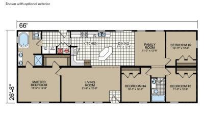 Y66 Floor Plan - Atlantic Homes York Built Series
