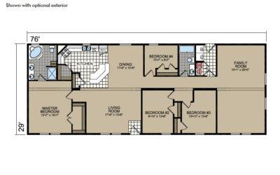 Y76 Floor Plan - Atlantic Homes York Built Series