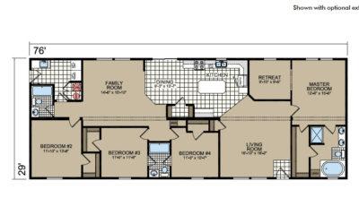 Y77 Floor Plan - Atlantic Homes York Built Series
